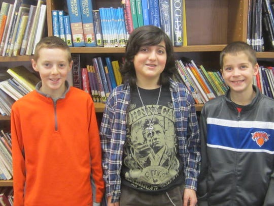 Pictured are winners (left to right): Jackson Harris, Gabe Hanley, and Matt Avallone.