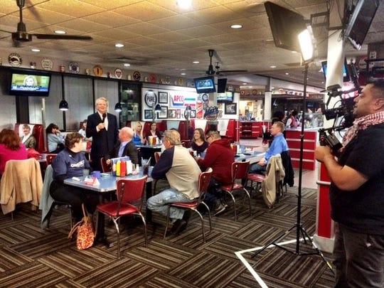 Talk-show host Jerry Springer held court at Max's Highway Diner in Altoona.
