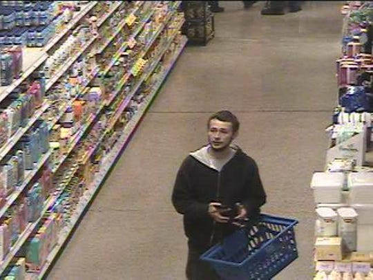 This man is being sought for stealing in Mount Laurel.