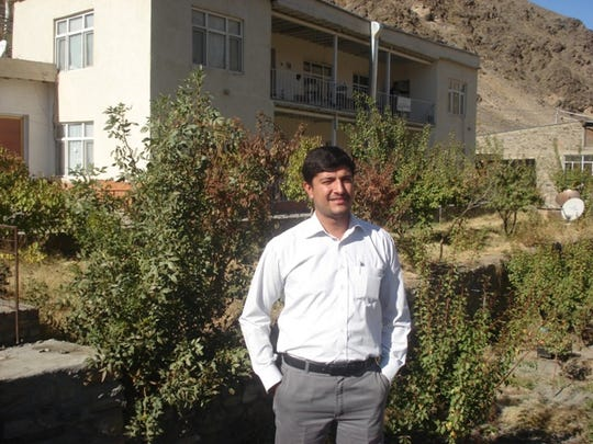Rafi Sherzad in Bazzarak City, Afghanistan while working