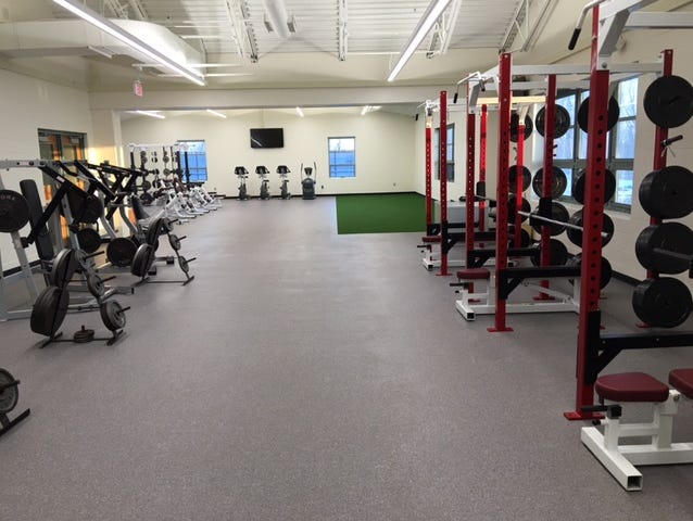 Okemos High School's new strength and conditioning center received $30,000 in donations from boosters.