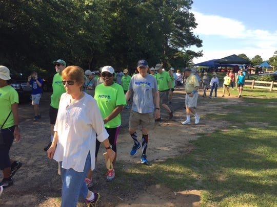 Move walkers have chance for extra health benefits at Saturday's walk at Maclay.