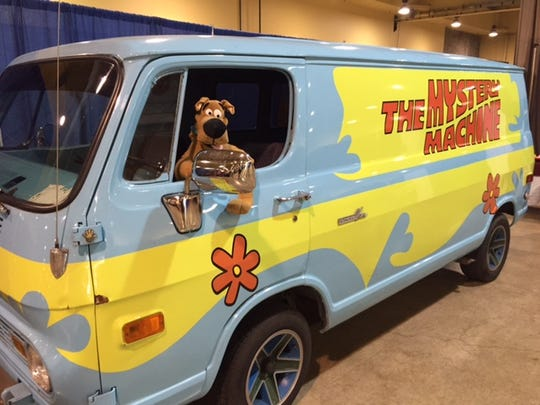 The Mystery Machine from the Scooby Doo cartoons made an appearance at the Scream & Ink convention at the Oregon State Fairgrounds on Feb. 27.