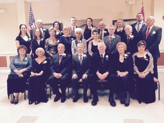 The 2016 officers of The Hungarian American Athletic Club were recently elected. They are shown at the club, at 288 Somerset St., New Brunswick. Front row, left to right, are Judka Zombori, Susan Kovacs, Moses Kovacs, Pres. Steve Horvath, George Gaspar, Margaret Erdosi, and Anna Varga. Second row, left to right, are Denisa Bott, Melinda Torok, Maria Stumpf, Ildiko Esztesz, Susan Nemeth, Juliana Molnar, Levente Lesi, Joseph Varga, and Joseph Homoki. Third row, left to right, are Laszlo Pokorny, Christina Gyovai, Attila Entesz, Erika Csenker, Agnes Benke, John Stumpf, and Attila Szabo. For more information on the club, call 732-521-5364.