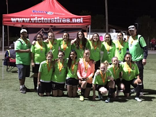 The FC Mesquite U14 girls' Infernos team won a gold medal at last week's Coyote Cup in Mesquite.