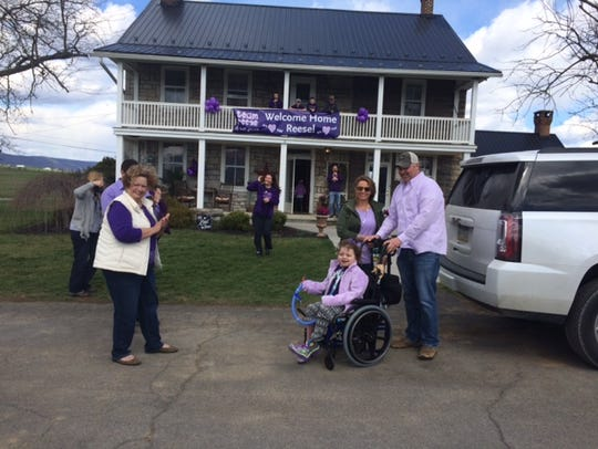 Reese Burdette is home Friday after 22 months in the