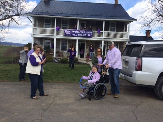 Reese Burdette is home Friday after 22 months in the hospital.