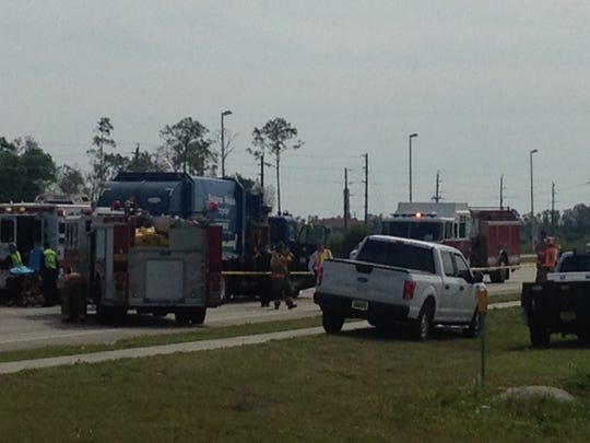 City of Fort Myers garbage truck and SUV crash, resulting