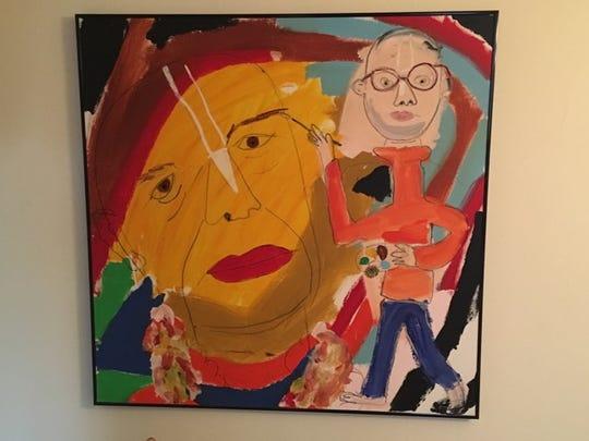 Satsvarupa das Goswami said he painted to relieve his