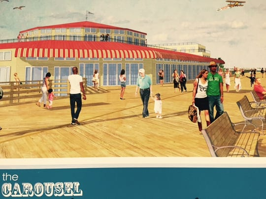 A rendering of a museum that could be built on the Seaside Heights boardwalk to house the historic Dentzel/Looff  carousel.