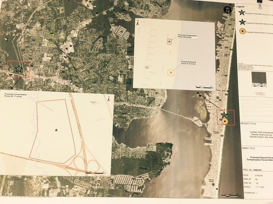 A map of the property near Winding River Park in Toms River that would be included in the swap of beach land in Seaside for the historic carousel.