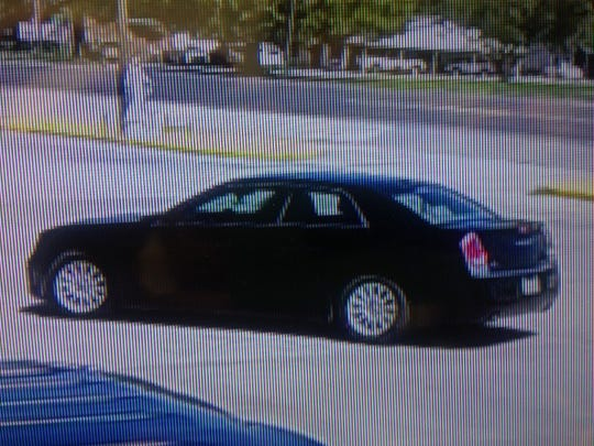 The Chrysler 300 driven by the man suspected of stealing $300 of crawfish.