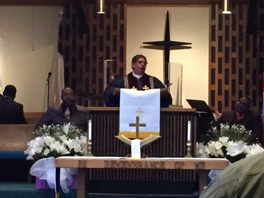 The Rev. Wanda J. Sprinkle gave the Sixth Word during the Good Friday Service at Mount Calvary Baptist Church.