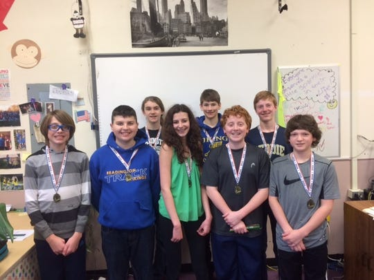 Students who will represent Hunterdon County in the