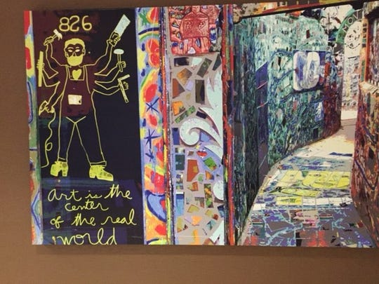 There was awesome art at the Doubletree.