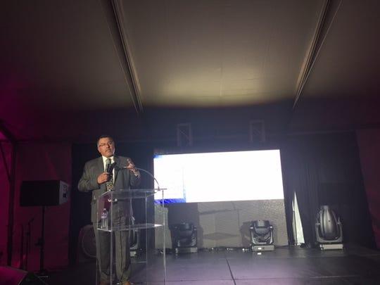 Desert Hot Springs City Manager Martín Magaña, speaking at the Desert Hot Springs State of the City event Thursday.