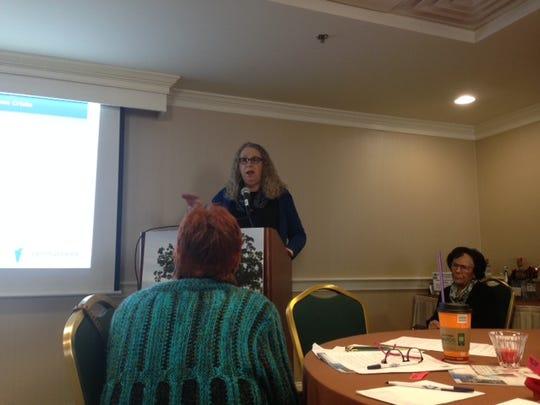 Dr. Rachel Levine addresses the AMA at the Gettysburg Hotel about prescription drug overdose.