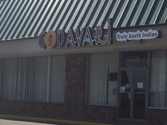 Godavari, a restaurant specializes in South Indian cuisine, on Kirkwood Highway.