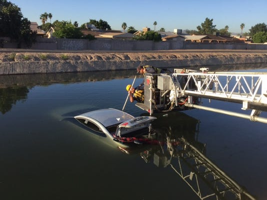 Car into canal