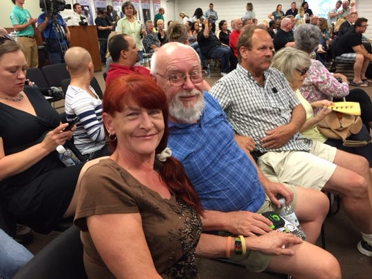 Medical marijuana patients Cheryl and Don Baker attended