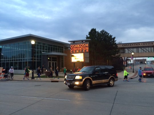 Oshkosh Convention Center at 6 a.m. Sunday