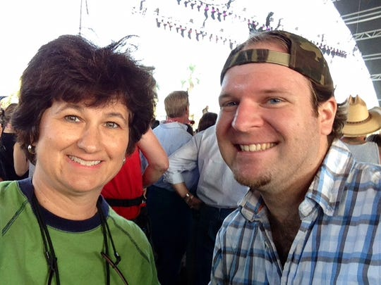Me and Brian Indrelunas at the Don McLean set during Stagecoach 2014. Don's in the background between our heads but you can't really see him. But we knew he was there.