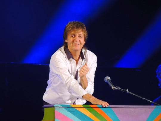 Wayne Specht took this photo of Paul McCartney at the piano during his stop in Fargo in 2014.