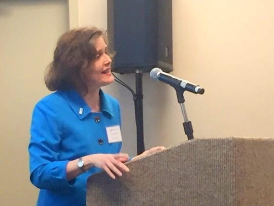 Mary Gilberti, CEO of the National Alliance on Mental Illness, was the featured speaker at the National Mental Health Awareness kick-off luncheon in Greenville.