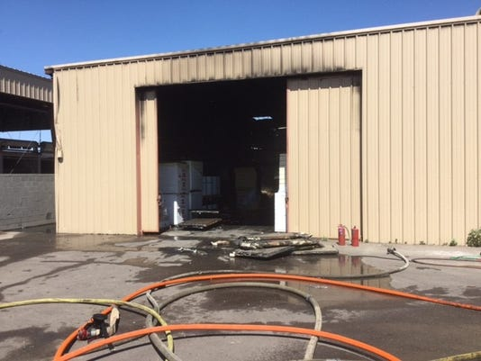 Warehouse fire injuries 1 in Phoenix