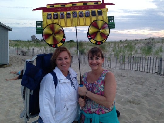Dari Kennedy, left, and Dominique Russell, both of Ocean Township, at the kickoff of kicked off the 2016 season of the Sandy Hook Foundation Beach Concert Series Wednesday, June 15.