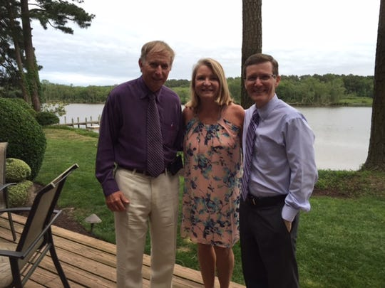 Dr. Dean Hartley (right) with Bill Martin and Susan