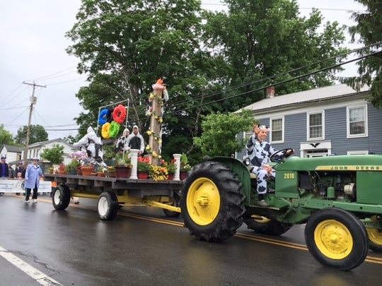 The Dryden Beautification Brigade provided the winning float entry for the Dryden Dairy Day parade, held on June 11, 2016.