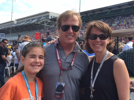 Jill Frederickson (right) at the Indianapolis 500,