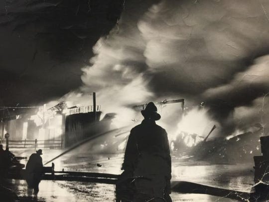 Linden fire at Citi Services in 1938