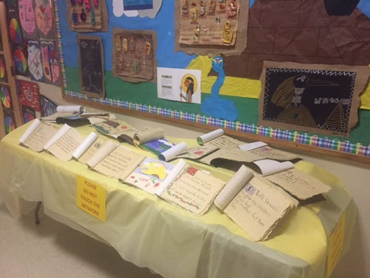 Manuscripts created by students at Broad Street School