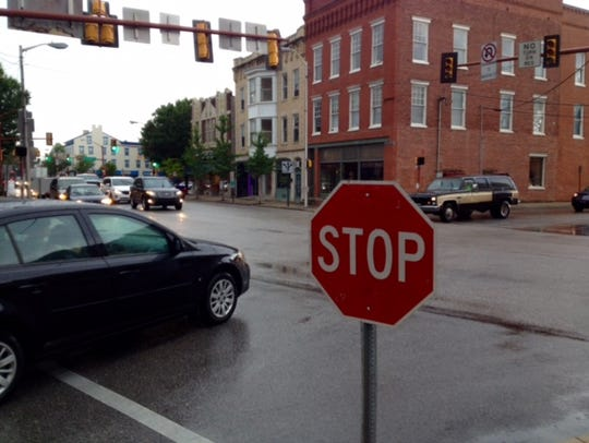 Hanover Borough Police Department placed stop signs