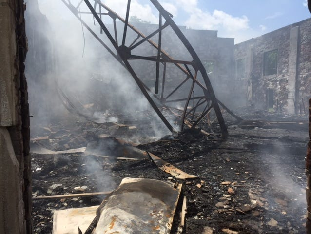 A fire destroyed the Springville Gym.
