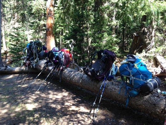 """""""At the most a pack should weigh one-third of your body weight,"""" backpacker Sue Morris said. """"That is about what a hiker can comfortably handle."""""""