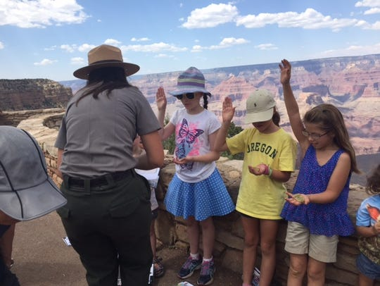 """""""I pledge to protect the Grand Canyon, and all national"""