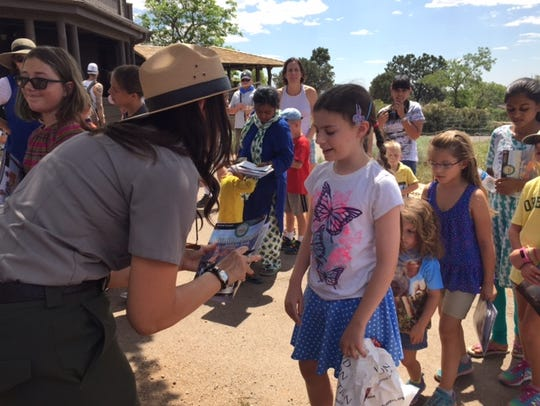 To earn a Junior Ranger badge, children are quizzed