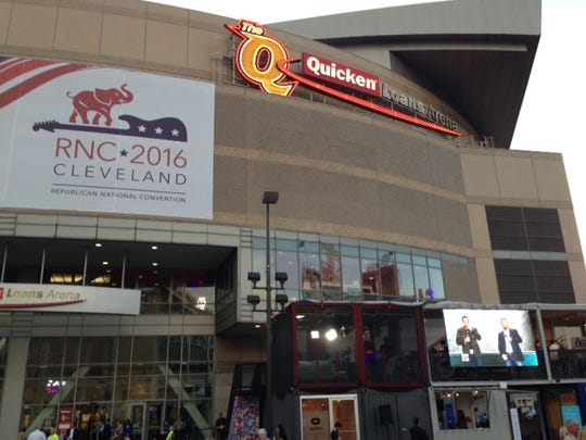 The Republican National Convention in Cleveland.