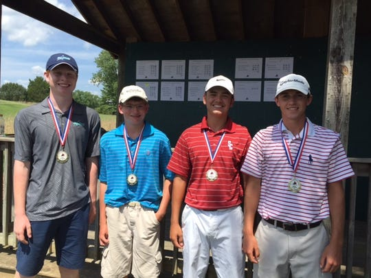 Top four individual finishers at the Stones River Golf