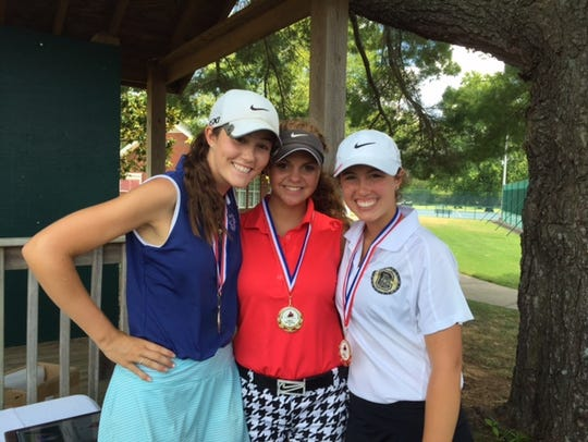 From left, first place individually at the Stones River