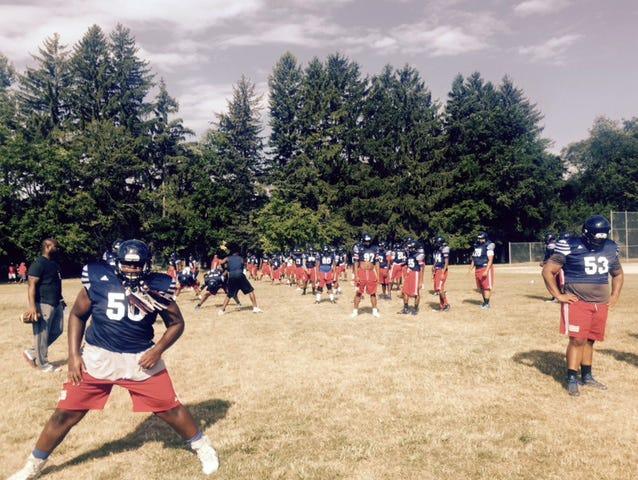 Southfield A&T football practice.