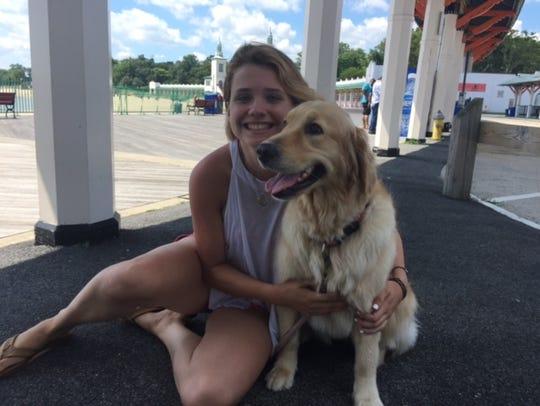 Sorcha McCrohan, Rye, with her dog Riley