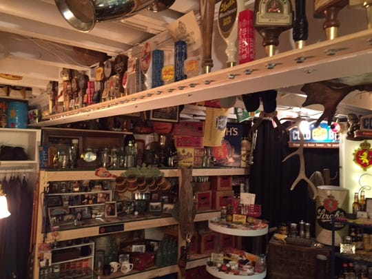 A massive collection of Stroh's memorabilia can be seen in the home of Denise Noble, 57, of Canton.