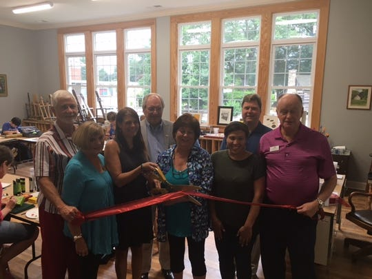 A ribbon cutting was held during The Art Haven's open