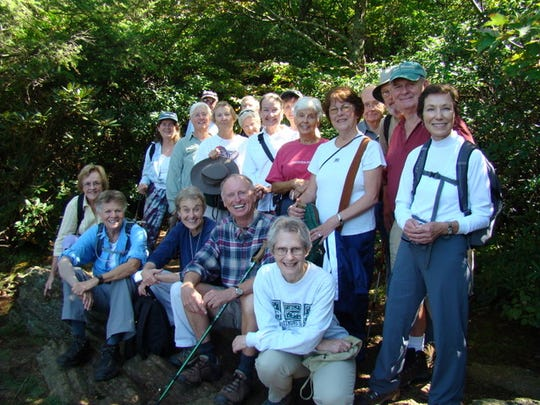 Happy hikers in last year's museum hike through Ridgecrest