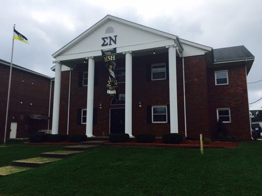 The leadership of the Sigma Nu fraternity at Missouri