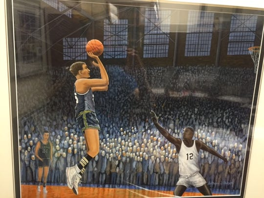 A recreation was crafted of Bobby Plump's game-winning shot as an 80th birthday gift.